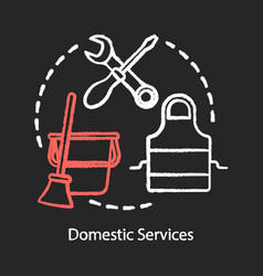 Domestic services chalk concept icon household vector