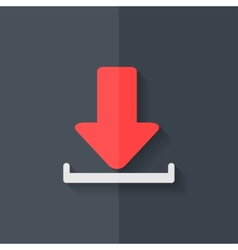 Download icon Flat design vector image