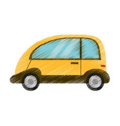 drawing automobile vehicle eco image vector image