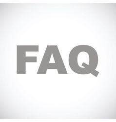 Faq black icon vector