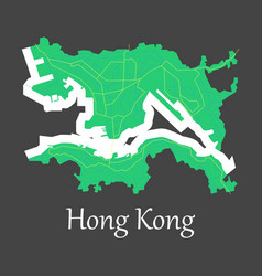 flat icon in form of hongkong vector image