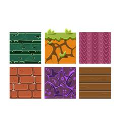 flat set seamless textures and materials vector image