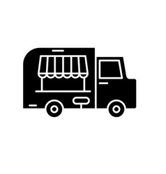 food track black icon sign on isolated vector image