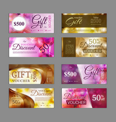 gift voucher template pack can be use for vector image