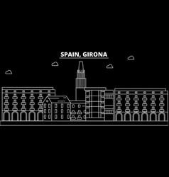 Girona silhouette skyline spain - girona vector