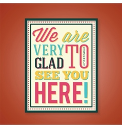 Glad to see you abstract retro poster vector