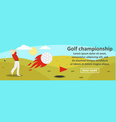 golf championship banner horizontal concept vector image