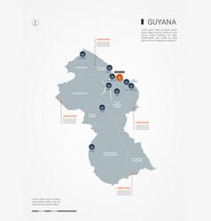 guyana infographic map vector image