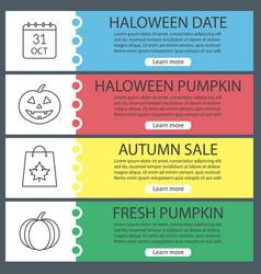 Halloween banner templates set vector