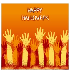 Halloween card design vector
