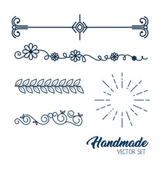 Handmade drawn elegant frame vector