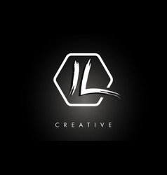 il i l brushed letter logo design with creative vector image