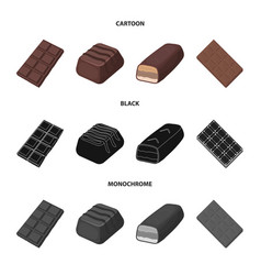 Isolated object chocolate and flavor symbol vector