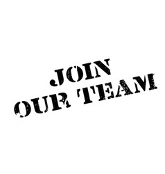 Join our team rubber stamp vector