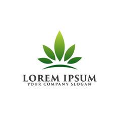 leaf garden floral landscape crown leaf logo vector image