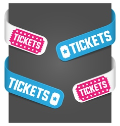 left and right side signs - tickets vector image