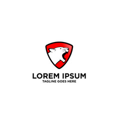 Lioness shield logo design template vector