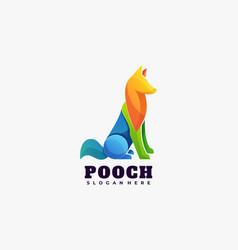 Logo pooch gradient colorful style vector
