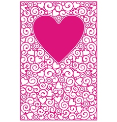 Love cards vertical vector