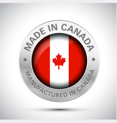 made in canada icon vector image