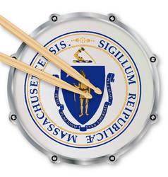 Massachusetts state snare drum vector