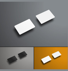 Mockup of two gift or bank cards in the future vector