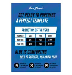 modern blue service list promotion flyer or vector image