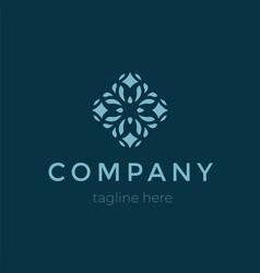 modern company flat logo design vector image