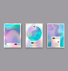 modern holographic pearl fllow abstract covers vector image