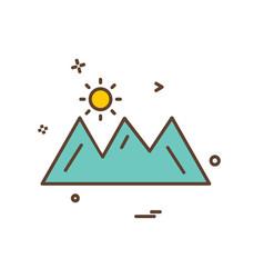 Mountians icon design vector
