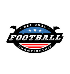 National championship american football logo vector