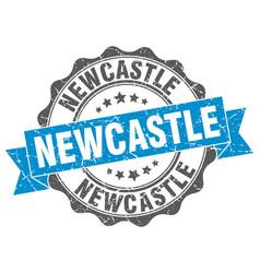 Newcastle round ribbon seal vector