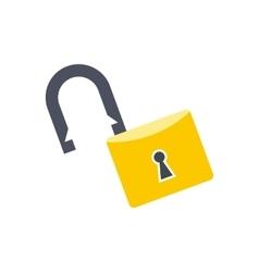 Open lock flat vector