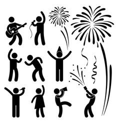 Party celebration event festival a set vector
