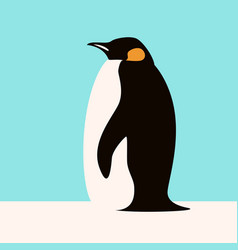 penguin flat style profile vector image
