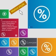 percentage discount icon sign buttons Modern vector image