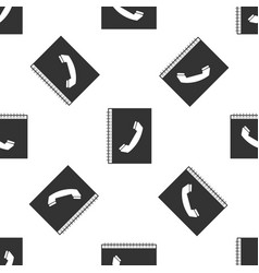 phone book isolated icon seamless pattern vector image