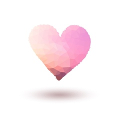 Pink painted heart on gradient background vector image