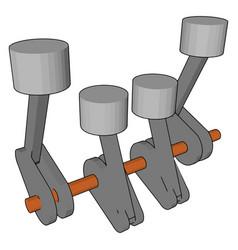 Piston or crankshaft or color vector