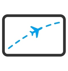 Plane Route Flat Icon vector image