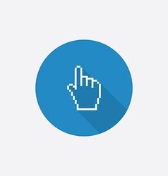 pointer pixel cursor flat blue simple icon vector image