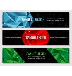 Polygonal geometric abstract banner design vector