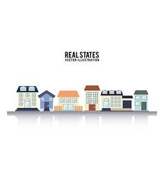 Real estate design over white background vector image