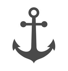 Ship anchor or boat anchor flat icon for apps vector