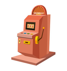 slot machine icon cartoon style vector image