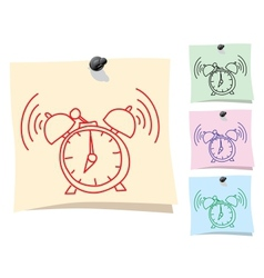 Sticker Clock vector image
