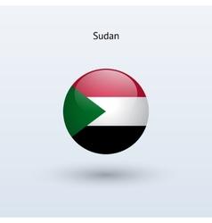 Sudan round flag vector image