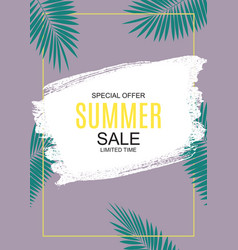 summer sale concept background vector image