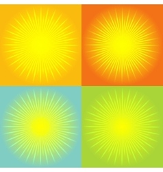 Sunburst abstract background vector image