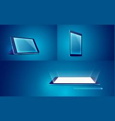 tablet blue vector image